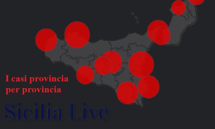coronavirus sicilia oggi province