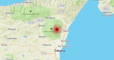 Terremoto Catania e provincia