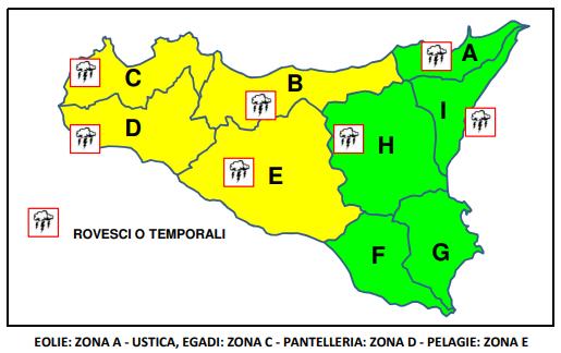 meteo sicilia allerta gialla 16 novembre
