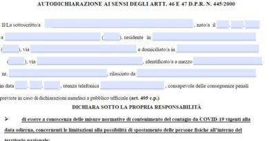 autocertificazione marzo 2021 pdf