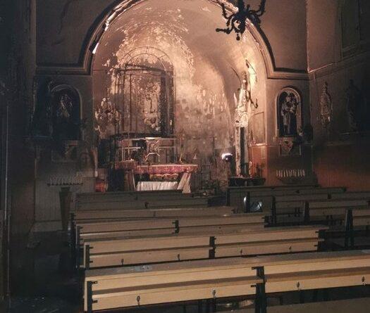 Incendio chiesa Catania