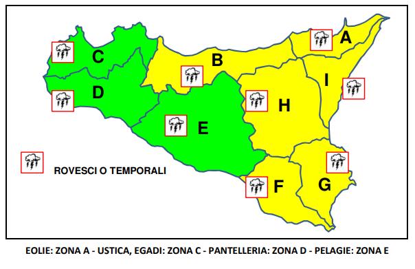 Meteo Catania oggi allerta gialla
