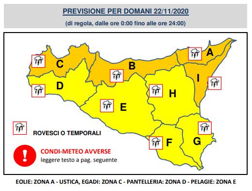 meteo sicilia domani allerta arancione