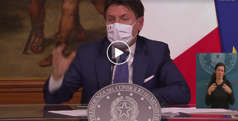 DPCM Natale Capodanno Conte video