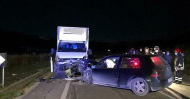 Incidente mortale auto furgone Agrigento