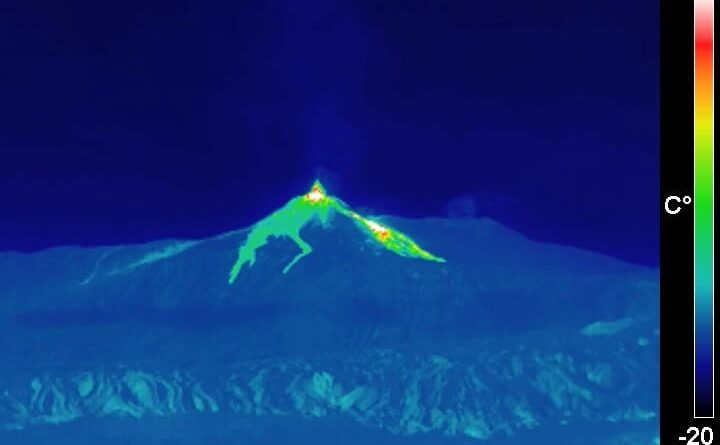 Etna eruzione 21 gennaio