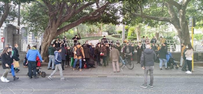 manifestazione No mask Catania