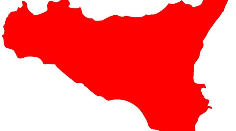 Sicilia zona rossa area