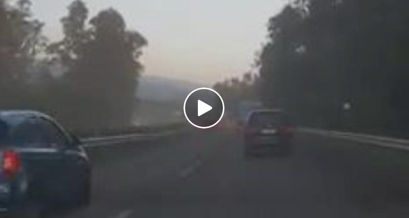 Etna pioggia cenere autostrada