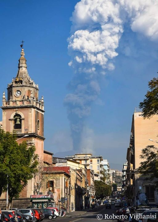 Etna eruzione Catania
