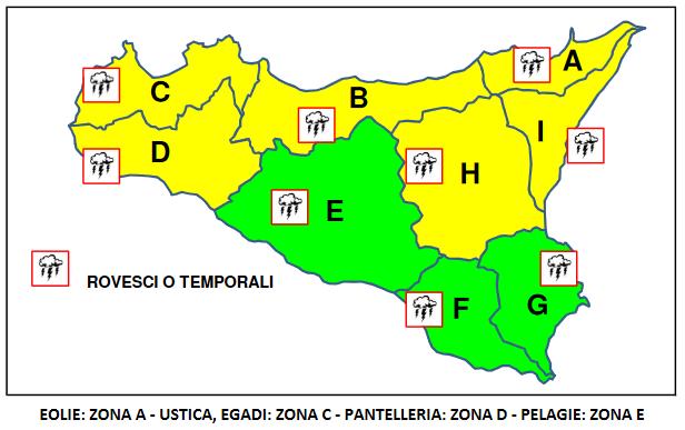 meteo sicilia allerta gialla 19 aprile