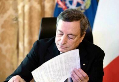 Decreto riaperture 26 aprile Mario Draghi firma