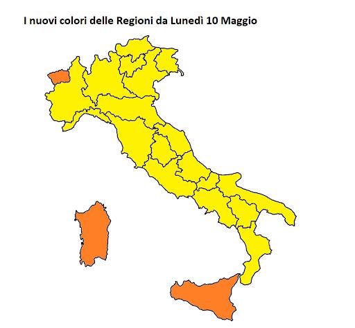 Sicilia arancione Italia 10 maggio