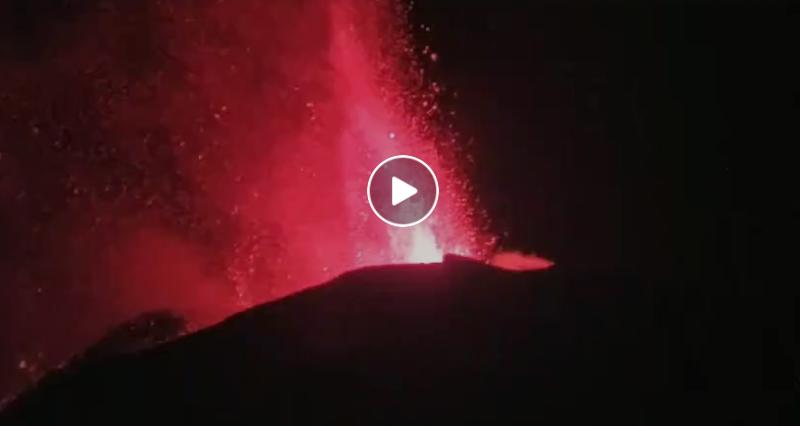Etna notte maggio video