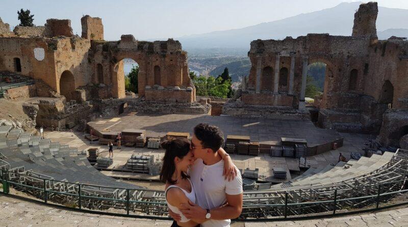 Taormina teatro proposta matrimonio