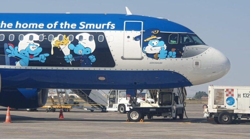 aereo puffi aeroporto catania