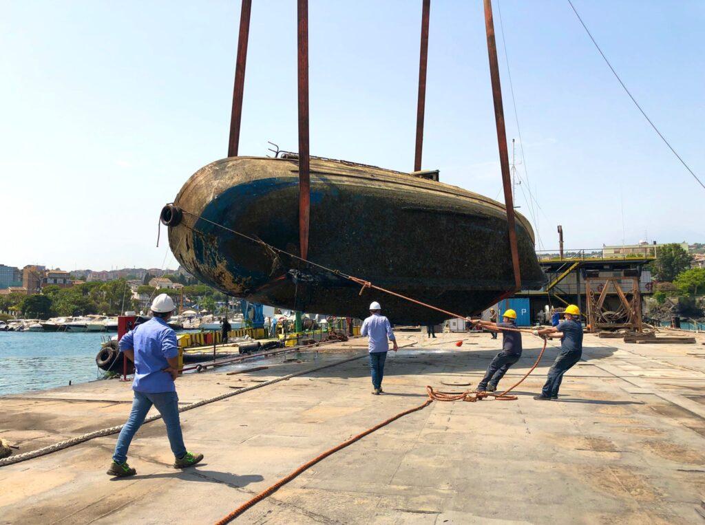 recupero imbarcazione porticciolo ognina catania