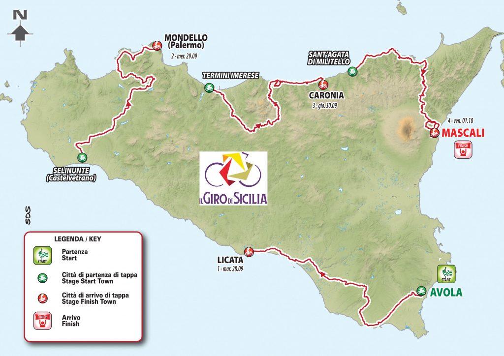 Giro di Sicilia 2021 tappe