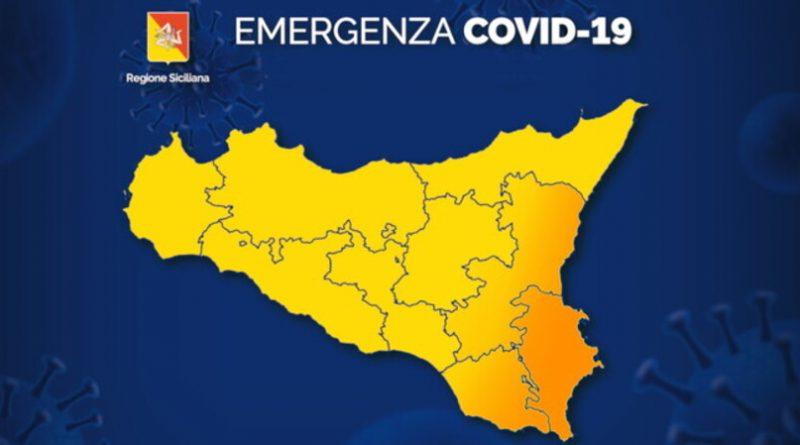 Sicilia comuni zona arancione