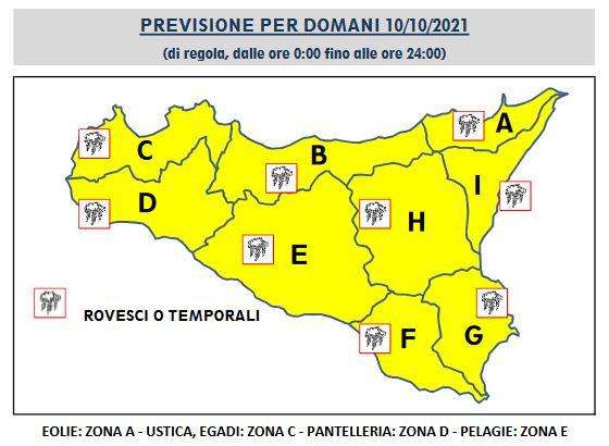 meteo sicilia domani allerta gialla 10 ottobre