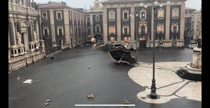 Catania centro tornado